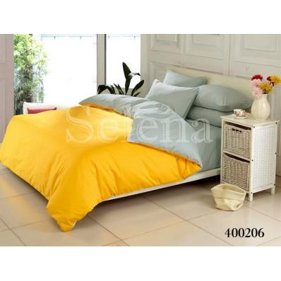 Комплект постельного белья Selena поплин 400206 Серо-желтый