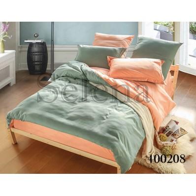 Комплект постельного белья Selena поплин 400208 Серо-коралловый
