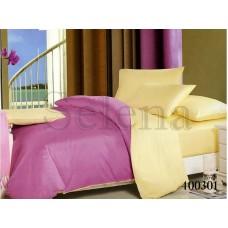 Постельное белье Selena поплин 400301 Ванильно-фиолетовый