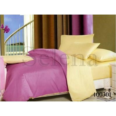 Комплект постельного белья Selena поплин 400301 Ванильно-фиолетовый
