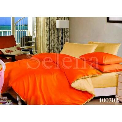 Комплект Постельного белья Selena поплин 400302 Ванильно-оранжевый