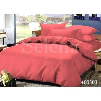 Комплект постельного белья Selena поплин 400303 Коралловый