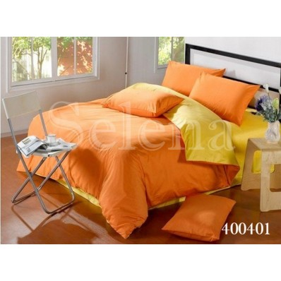Комплект постельного белья Selena поплин 400401 Оранжево-желтый