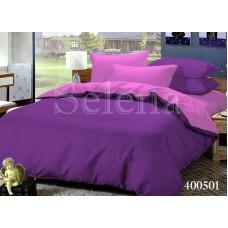 Постельное белье Selena поплин 400501 Фиолетово-Розовый