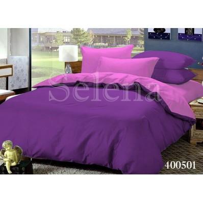 Комплект постельного белья Selena поплин 400501 Фиолетово-Розовый