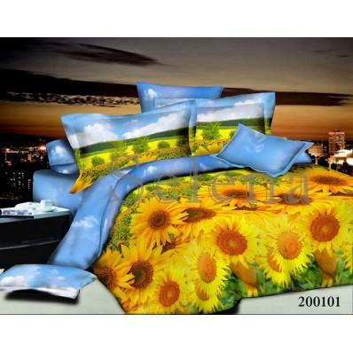Комплект постельного белья Selena ранфорс 200101 Подсолнухи Поле