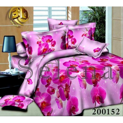 Комплект постельного белья Selena ранфорс 200152 Орхидея Розовая