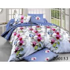 Постельное белье Selena ранфорс 200153 Орхидея Голубая