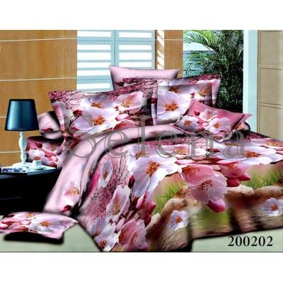 Комплект постельного белья Selena ранфорс 200202 Яблоневый Цвет