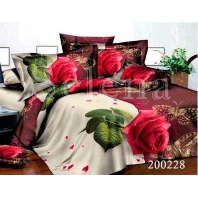 Комплект Постельное белье Selena ранфорс 200228 Розовый Этюд