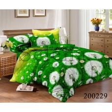 Постельное белье Selena ранфорс 200229 Одуванчики зеленые