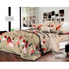 Постельное белье Selena ранфорс 200233 Перышки Цветные