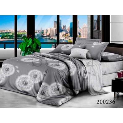 Комплект Постельное белье Selena ранфорс 200236 Одуванчики Grey