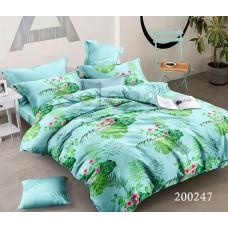 Постельное белье Selena ранфорс 200247 Зеленый букет