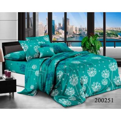 Постельное белье Selena ранфорс 200251 Полет Одуванчика Blue