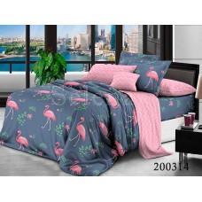 Постельное белье Selena ранфорс 200314 Фламинго Розовый