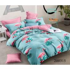 Постельное белье Selena ранфорс 200315 Фламинго бирюза