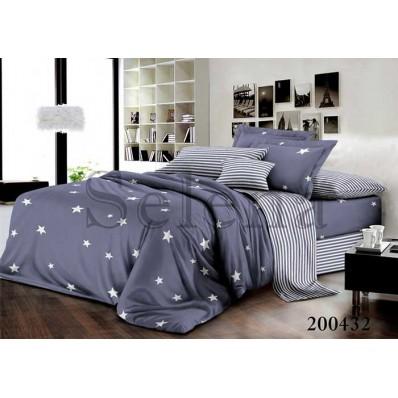 Комплект Постельного белья Selena Ранфорс 200432 Звезды