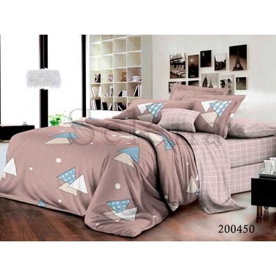Комплект Постельное белье Selena ранфорс 200450 Веселые Треугольники 2