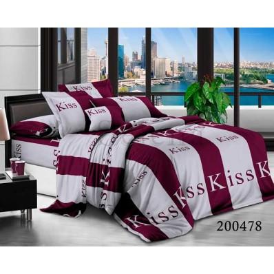 Постельное белье Selena ранфорс 200478 Kiss Полоска