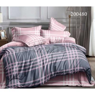 Постельное белье Selena ранфорс 200480 Шотландка Розовая