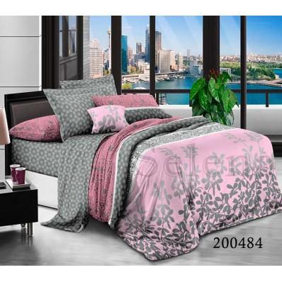 Постельное белье Selena ранфорс 200484 Розовый Ветер