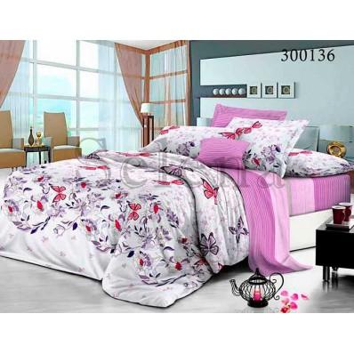 Комплект Постельного белья Selena сатин 300136 Бабочки