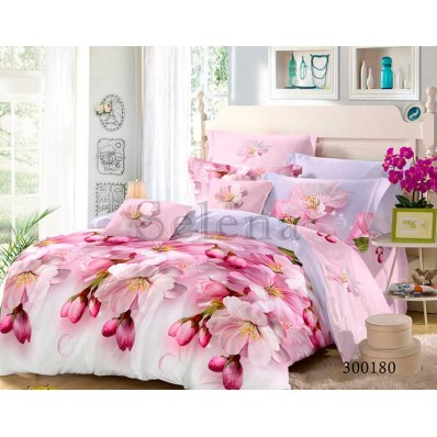 Постельное белье Selena сатин 300180 Яблоневый Цвет