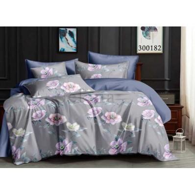 Постельное белье Selena сатин 300182 Цветочки Grey