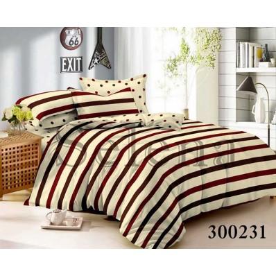 Комплект постельного белья Selena сатин 300231 Горошек Комби