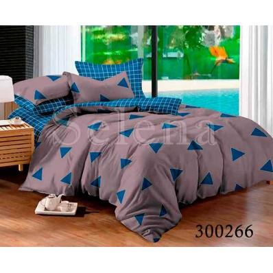 Комплект Постельного белья Selena сатин 300266 Треугольники