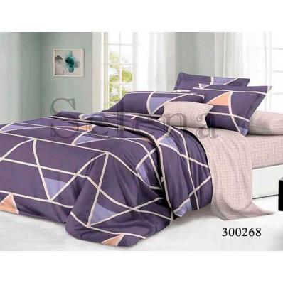 Комплект Постельного белья Selena сатин 300268 Фиолетовая геометрия