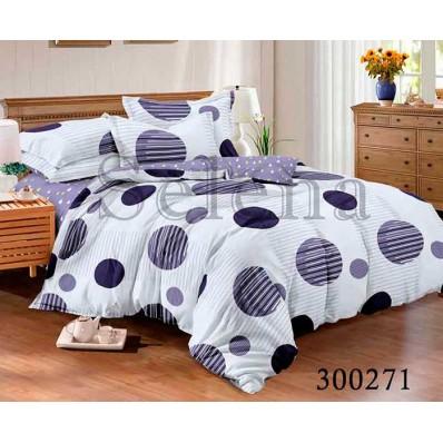 Комплект Постельного белья Selena сатин 300271 Круги фиолетовые