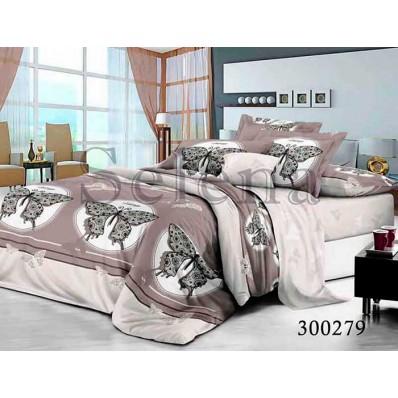 Комплект Постельного белья Selena сатин 300279 Бабочки крупные