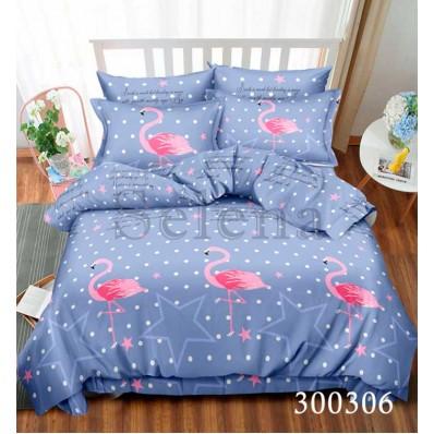 Комплект Постельное белье Selena сатин 300306 Розовый Фламинго 2
