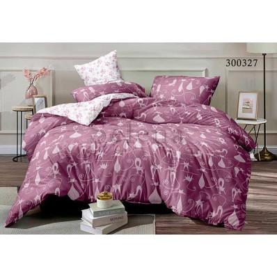 Постельное белье Selena сатин 300327 Кошачье Семейство Pink