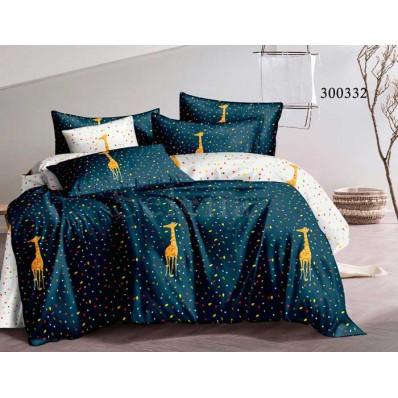 Постельное белье Selena сатин 300332 Праздничный Жираф