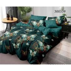 Постельное белье Selena сатин 300339 Бабочки Green