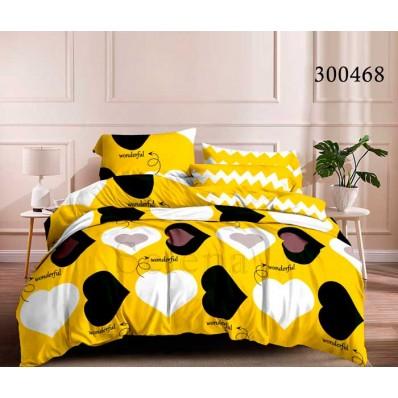 Постельное белье Selena сатин 300468 Сердечки Желтые