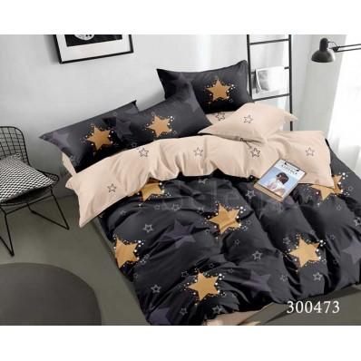 Постельное белье Selena сатин 300473 Звезды Золотистые