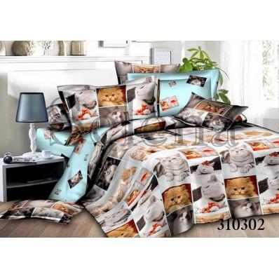 Комплект постельного белья Selena сатин 310302 Котики