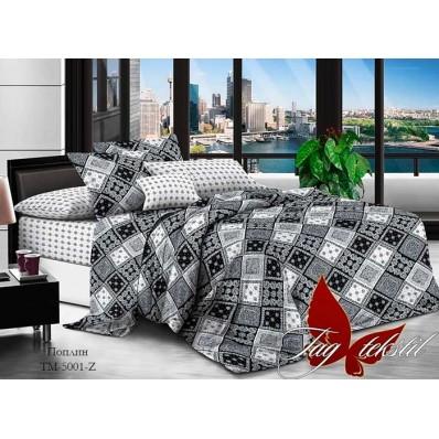 Комплект постельного белья с компаньоном TM Tag-tekstil поплин TM-5001Z