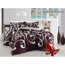 Комплект постельного белья с компаньоном TM Tag-tekstil Ruya kahve R670