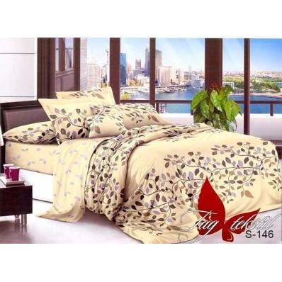 Комплект постельного белья с компаньоном TM Tag-tekstil сатин люкс S146