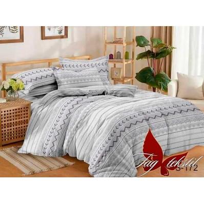 Комплект постельного белья с компаньоном TM Tag-tekstil сатин люкс S172