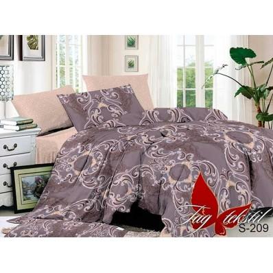 Комплект постельного белья с компаньоном TM Tag-tekstil сатин люкс S209