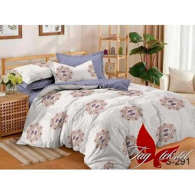 Комплект постельного белья с компаньоном TM Tag-tekstil сатин люкс S291