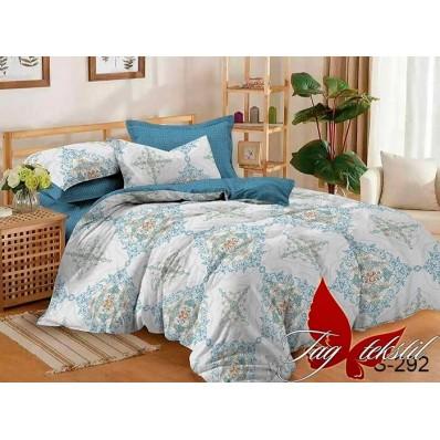 Комплект постельного белья с компаньоном TM Tag-tekstil сатин люкс S292