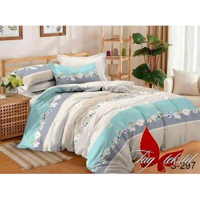 Комплект постельного белья с компаньоном TM Tag-tekstil сатин люкс S297