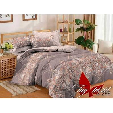 Комплект постельного белья с компаньоном TM Tag-tekstil сатин люкс S299
